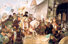 Mihai Viteazu entering with glory in Alba Iulia.