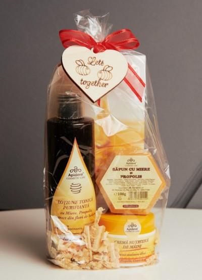 SET Lotiune Tonica, SAPUN 100g, Crema de Maini 50ml- resized
